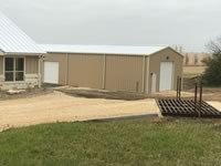 30' x 80' metal building in Mustang Mott Texas