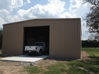30' x 30' x 12' with 12' x 10' sectional door