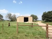 30' x 30'x 12' metal building barn on a ranch