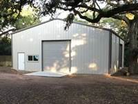 40' x 50' x 12' metal building with 3 on 12 roof pitch