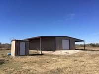 40' x 60' x 12' metal building with lean to and water well shed