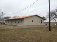 Metal barndominium built to customers specs