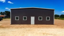 Custom metal barn / shop built to clients specs