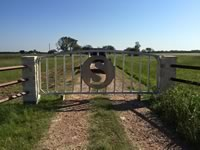Custom built metal gate entrance