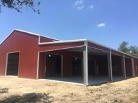 Metal building 25' x 125' with custome built lean to