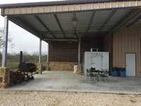 Metal Building with custom built wild game cleaning station