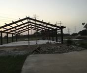 Metal building structure and framing